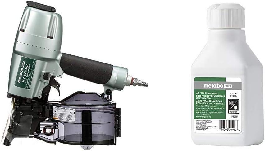Metabo HPT NV65AH2 Siding Nailer w/Air Tool Oil - -
