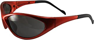Global Vision Reflex Padded Motorcycle Safety Sunglasses Orange Frame Smoke Lens ANSI Z87.1