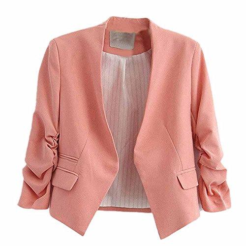 VECDY Damen Jacke,Räumungsverkauf- Herbst Frauen OL Stil Dreiviertel Sleeve Blazer Elegante Schlanke Anzug Mantel Elegante Karneval Jacke Bezauberndes Kleid der Anzugjacke Elegante