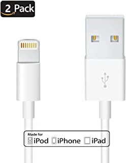 Uelkdef 2Pack Lightning to USB Cable Apple Charger - Apple MFi Certified iPhone Charger Cable for...