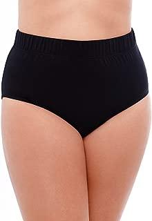 Women's Plus Size Swimwear Basic Swim Brief Tummy Control High Waist Bathing Suit Bottom