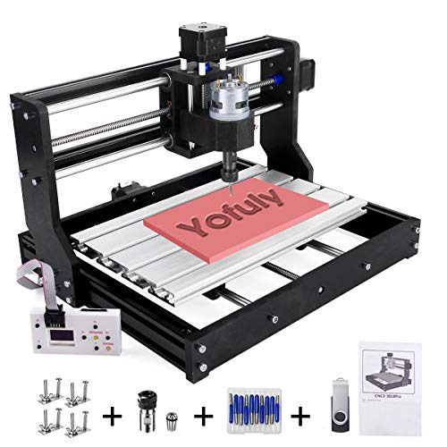Upgraded CNC 3018 Pro GRBL Control Engraving Machine, 3 Axis PCB Milling Carving Machine, CNC Router Kit with Offline Controller and ER11 and 5mm Extension Rod