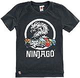 Lego Ninjago T-Shirt Jungen grau - Silber Reflex Ninja Kinder 3 4 5 6 7 8 9 10 11 12 Jahre Oberteil Gr.104 116 128 140 Oeko TEX 100 (116, Numeric_116)