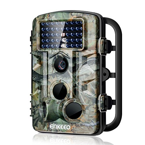 ENKEEO PH730S Trail Camera 1080P 12MP HD Wildlife Game Hunting Cam with 42PCS 850NM IR LEDs Night Vision, 0.2s Trigger Time, 2.4' LCD Screen, Time Lapse, 65ft Range and IP54 Water Resistant