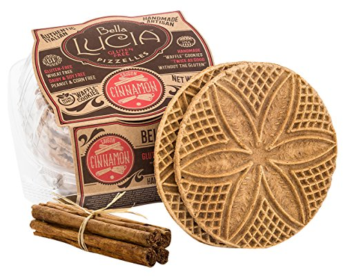 Bella Lucia Gluten Free Pizzelles, Cinnamon, 6 Ounce