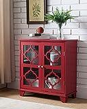 Rojo mesa Accent entrada consola Buffet Pantalla de madera con puerta de almacenamiento