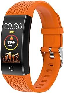HZYYZH Multi-Deportes Información De Llamadas Control De Actividad Inteligente Pulsera Deportes Podómetro Bluetooth Cámara Recordatorio Monitoreo del Ritmo Cardíaco del Sueño,Naranja