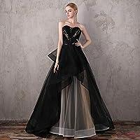 Aライン カクテルドレス カラー ドレス フォーマル パーティードレス マーメイド ミディアム ウェディング ドレス レディース aruka_aubrer1-1 S
