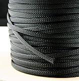 5 Meter Gewebeschlauch Ø 3-65 mm Geflechtschlauch PET Isolierschlauch Kabelschutz Kabelschlauch (4-10 mm)