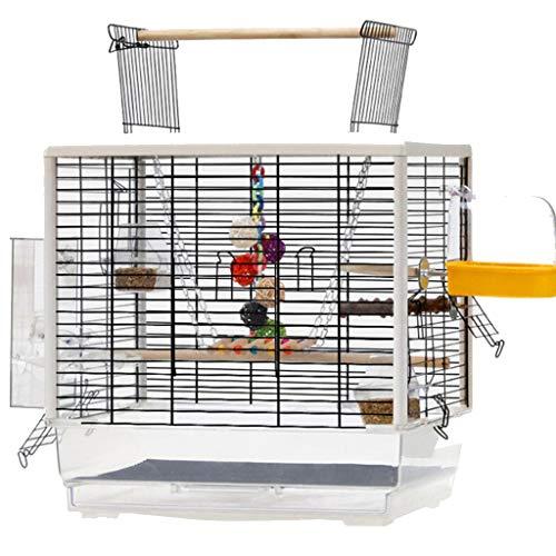 YUESFZ Einlagen für Vogelkäfige Große Transparente Papageienvilla, Ziergarten Vogelkäfig, Geeignet Für Das Vogelnest Kleiner Und Mittlerer Vögel (Color : Set-A)