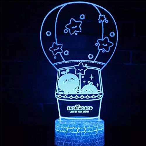 Creative Cartoon hot air Balloon Table lamp LED Crack Base Acrylic Multiple Colors for Bedroom Decoration