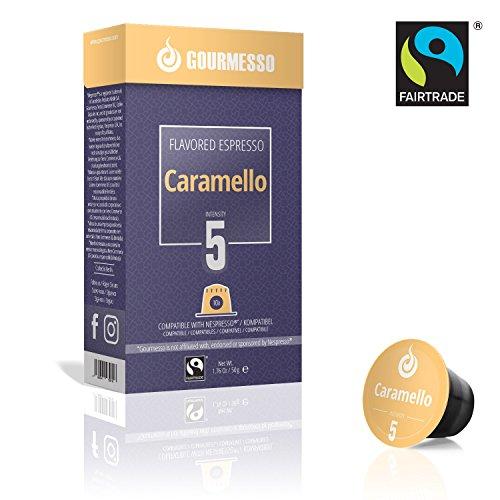 Gourmesso Soffio Caramello (Karamell) - 30 Nespresso kompatible Kaffeekapseln - Fairtrade