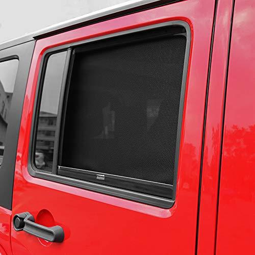 WXQYR 2 Stück Auto Front Seitenfenster Sonnenschirme Anti UV Sun Windschutzscheibe Sonnenschutz Abdeckung für Jeep Wrangler JK 2007-2017 Auto Zubehör
