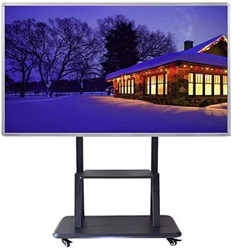 Soporte de Pared para Rack de TV Soporte Universal para TV móvil con Estante Carrito de TV con Ruedas para Panel Plano LCD Curvo de 60-100 Pulgadas OLED LED de hasta 100 kg Rack de TV
