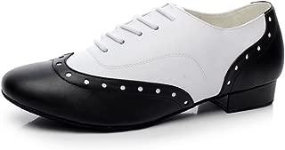 MINITOO Mens TH176 Lace-up Stylish Leather Wedding Ballroom Latin Taogo Dance Shoes