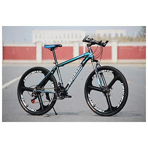 COSCANA Bicicleta De Montaña Al Aire Libre Rueda De 26 Pulgadas 21-27 Velocidad 3 Radios Freno De Disco Doble Horquilla De Suspensión Bicicleta AntideslizanteBlue-24 Speed