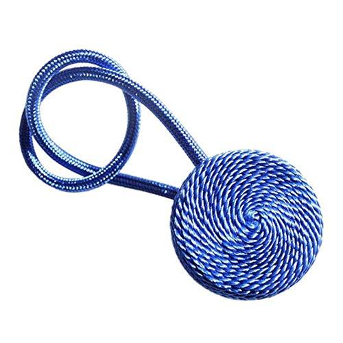 HJCWL 1 stks magnetische flanel ronde gordijn tiebacks tiebacks holdbacks ringgesp clips accessoire gordijnroeden decoratie accessoires, blauw