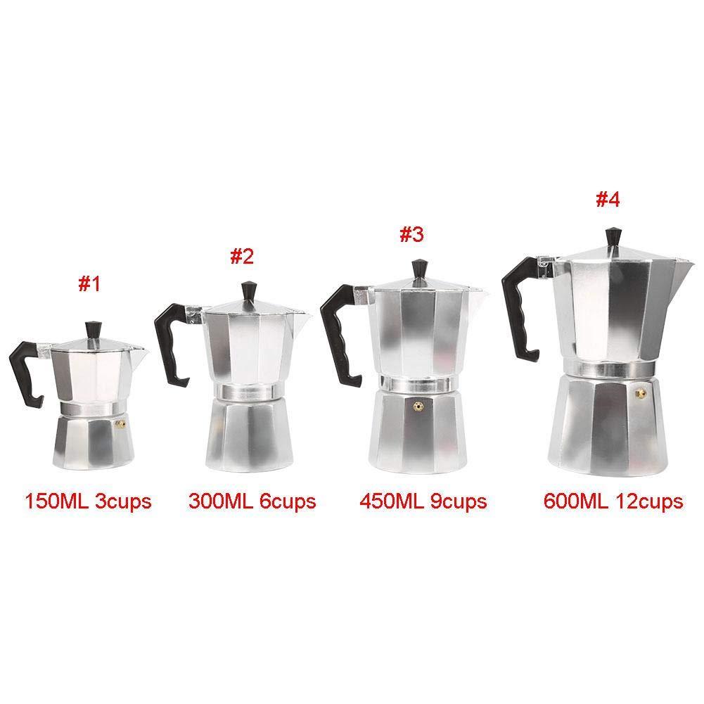 Cafetera Moka express de aluminio, Cafetera Espresso Cafetera italiana de aluminio(450ML 9cups): Amazon.es: Hogar