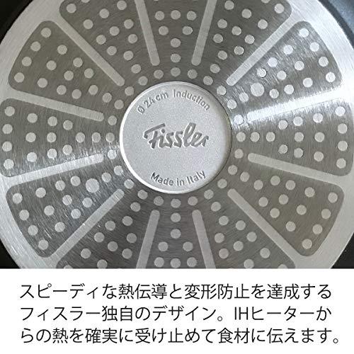 フィスラー (Fissler) フライパン 鍋 セット セニット IH 24cm、 レッドハンドル ソースパン 18cm、 ステンレス蓋 18cm ガス火/IH対応 3点セット 197028