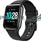 MSRVI Fitness Tracker Watch with Heart Rate Monitor Step Tracker Calories Sleep Monitor,IP68 Waterproof Pedometer Watch for Men Women Smart Watch for Android Phones iOS Blak