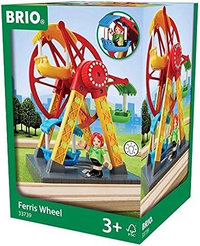 BRIO World 33739 - Riesenrad mit Blinklicht