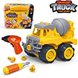 Take Apart Toys with Electric Drill | Toddler DIY Assembly Construction Truck | Building Toys Gifts for Boys & Girls Age 3yr-6yr | Kids Stem Building Toy Age 4,5 (Cement Mixer)