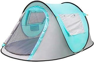 IDWOI-tält utomhus ultralätt tält 3-4 personer tält helautomatisk vindtät vattentät bergsklättring fiske fält strand