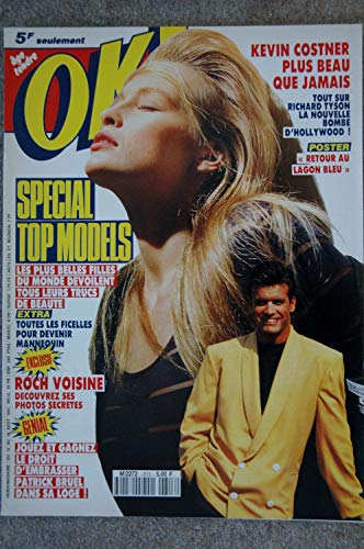 OK ! âge tendre 813 AOUT 1991 SPECIAL TOP MODELS CLAUDIA SCHIFFER NAOMI CAMPBELL MILLA JOVOVICH CINDY CRAWFORD RICHARD TYSON