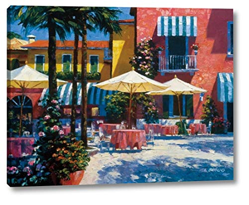"""Inn at Lake Garda by Howard Behrens - 16"""" x 20"""" Canvas Art Print Gallery Wrapped - Ready to Hang"""
