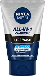 NIVEA MEN Face Wash, All In One, 10x Vitamin C, 100ml
