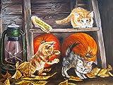 5D DIY diamante bordado gato artesanía Kit diamante pintura perro animales punto de cruz mosaico decoración de Halloween A1 50x70cm