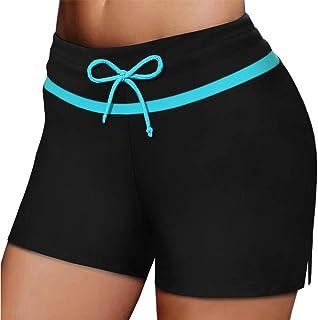S-XXXL FuYang Skirted Bikini Bottoms,Womans Swim Shorts,Skirted Shorts,Ladies Elastic Solid Beach Swimsuit