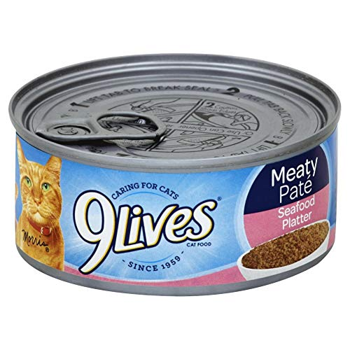 Meaty Pate Seafood Platter Cat Food Singles, 5.5 Ounce of Each Cans, Pack of 1 Can