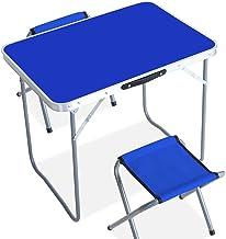 DX Opvouwbare Camping Table, Camping aluminium opklapbare picknicktafel geïntegreerd ontwerp intrekbare handvat gemakkelij...