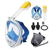 Prakal Full Face Snorkel Mask-Diving Mask with 180 Panoramic View Easy Breath, Anti-Fog