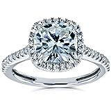 Best Kobelli Moissanite Wedding Rings - Kobelli Cushion Moissanite Halo Engagement Ring 2 1/4 Review