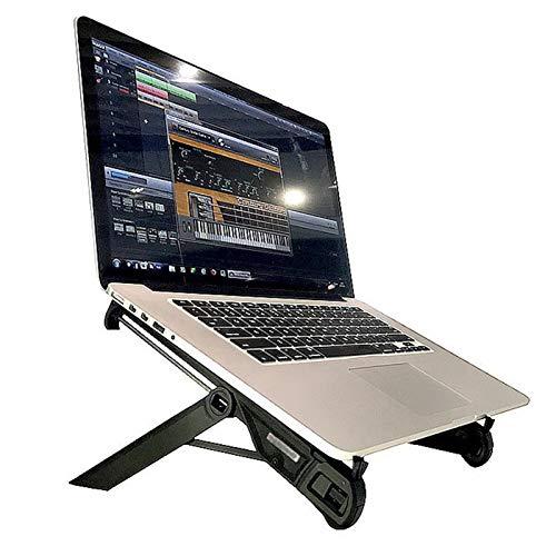 BSTL Soporte para Portátil Portátil Soporte para Portátil Ajustable Plegable a La Altura de Los Ojos Ergonómico Ligero Compacto Ajuste Universal para PC Macbook,Black