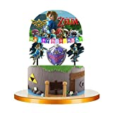 Legend of Zelda Link Party Cupcake Topper Cake Toppers Decoration Theme Birthday A2