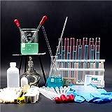 Laboratorio Básico Químico Kit de instrumentos de vidrio, trípode industrial Alcohol Lámpara gotero Calefacción Dispositivo experimental Suministros de enseñanza universitaria