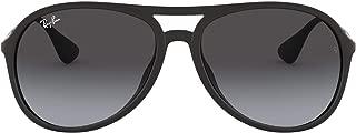 Ray-Ban Men's Alex Oval Sunglasses,Rubber Black,59 mm