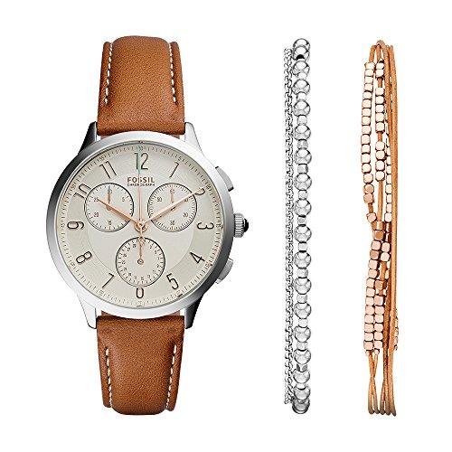 Fossil Women's Abilene CH4001SET Brown Leather Quartz Fashion Watch