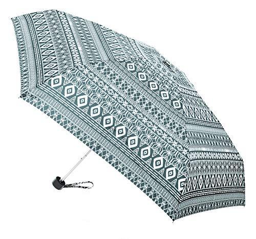 Paraguas Vogue Mini. Pequeño, Plegable, Compacto y Ligero. Estampado étnico. Paraguas Mujer...