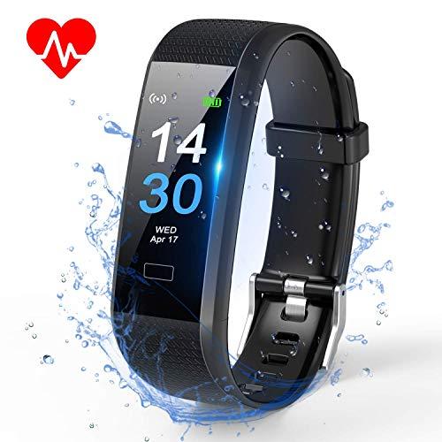 TOPLUS Montre Connectée Bracelet Connecté Podometre Smartwatch CardioHomme Femme Etanche IP68 Montre Sport Multifonctionnelle pour Android iOS