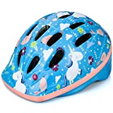 OutdoorMaster Toddler Bike Helmet - CPSC Certified Multi-sport Adjustable Helmet for Children (Age 3-5) , 14 Vents Safety & Fun Print Design for Kids Skating Cycling Scooter - Unicorn Fairyland
