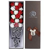 LeXiangLANGood ホリデーギフト18石鹸の花造花の誕生日ギフト花束、人工花頭diyの結婚式コアホームパーティーの装飾