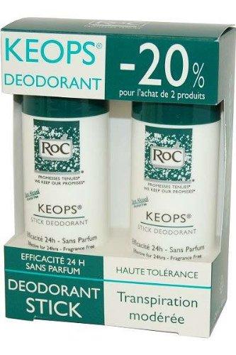 Keops por RoC Desodorante Stick 40ml Pack de 2
