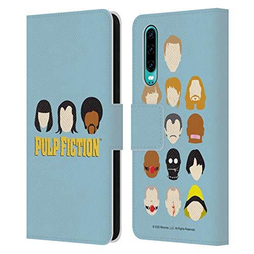 Head Case Designs Licenza Ufficiale Pulp Fiction Facce Arte Cover in Pelle a Portafoglio Compatibile con Huawei P30