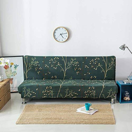 SINKITA Armlose Sofabezug Stretch Schlafsofa Schonbezug Futon Sofabezug Nicht-Unterhose Sofa Falten Couch Protector Ohne Armlehnen Leichtgewicht Stretch Möbelschutz-BJ-160-190cm(63-75inch)