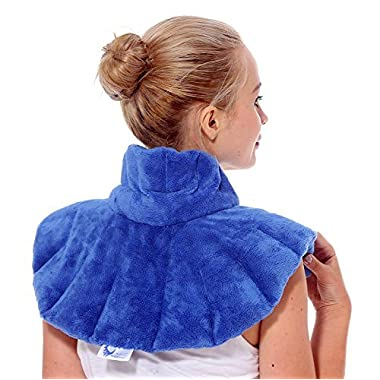 Huggaroo Microwavable Heating Pad for Neck Pain and Shoulder Pain Relief, Migraine Headache Relief, Stress Relief, Anxiety Relief | Herbal Aromatherapy | Hot/Cold Neck Wrap