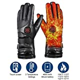 Best Heated Gloves - Wodesid 7.4V 4000mAh Heated Gloves Rechargeable Electric Leather Review